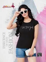 Saheli Plain H/S T-Shirt, Quantity Per Pack: 10 Pcs