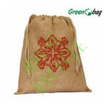 Brown Printed Drawstring Bags