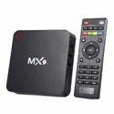 MX9 4K Ultra HD Android Smart TV Box  -Black