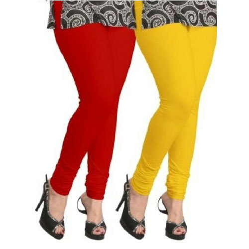 94736ac05b9ad Red And Yellow Cotton Womens Designer Leggings, Size: Medium, Large, XL,