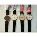 Crony Round Dial Leather Strap Wrist Watch