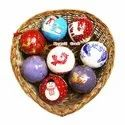 Blue Pattern X-Mas Ball Holiday Decoration Bauble Ball