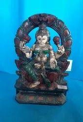 Wooden Laxmi statue antique