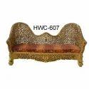 Three Seater Wooden Sofa