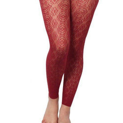 Red Designer Legging, Size: Xl