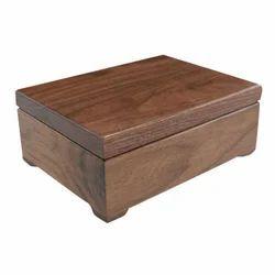 Brown Wooden Storage Box