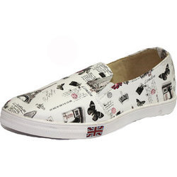 Casual Wear Women Printed Casual Shoes, Size: 4-9