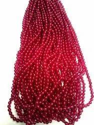 Ruby Imitation Plane Beads