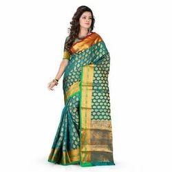Designer Jacquard Saree, 5.5 M (separate Blouse Piece)