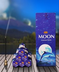 RAJ Charcoal Moon Incense Sticks, for Aromatic