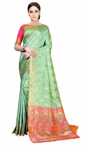 0daf7ab8a9 Zari Printed Party Wear Silk Sarees, Rs 1099 /piece, Hanumante ...