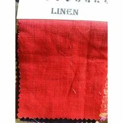 58-60 Red Linen Fabric, For Dress, GSM: 50-100