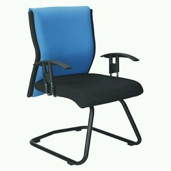 Blue And Black Reception Office Chair