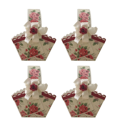Crack of Dawn Crafts Cardboard Gift Basket Red, Pack of 4