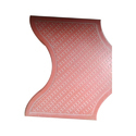 Red Concrete Wave Paper Paver Blocks, For Landscaping, Thickness: 60 Mm