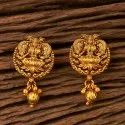 Antique Matte Gold Plated Temple Earring 202874