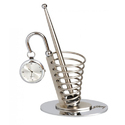 Spiral Pen Stand with Clock