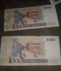 Old Currency Of Brazillian