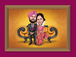 Customized Wedding Caricatures
