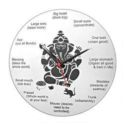 Ganesh Steel Wall Clock