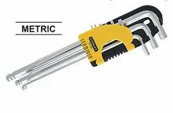 Stanley 94-158 9 Piece Extra Long Metric Ball End Hex key Set