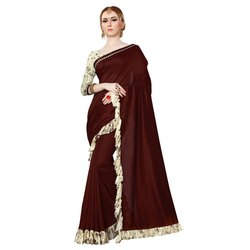 Border Work New Ruffle Saree