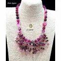 Jade Semiprecious Party Wear Fashion Jewellery Necklace