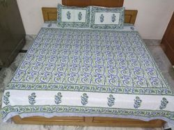 Printed Bed Sheet And Pillow Cover