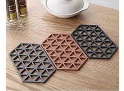 Silicone Large Dining Table Mats 4 Piece Set