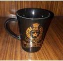 Black 330 Ml Ceramic Coffee Mug, For Promation, Packaging Type: Box