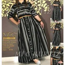 MFC Cotton Designer Ladies Collar Neck Kurti, Size: 38-44