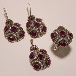 Designer Pink Turkish Ring Pendant