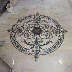 Designer Marble Inlay Flooring Pattern