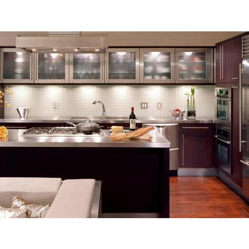 Brown And White Stylish Kitchen Cupboard, Rs 100000 /piece, Inspire Kitchen & Interiors