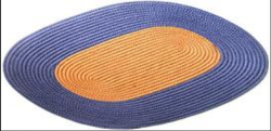 Oval Mat Double Color Braided Doormat, Size: 15 X 24 And 18x28