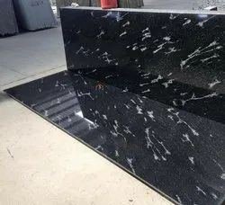 Fish Black Granite Slab