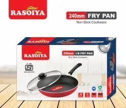 Black Aluminium Rasoiya 240 Dia 3mm Induction Base Fry Pan, For Home, Capacity: 2.5ltrs