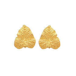 Different Rosa Leaf Pretty Nice Stud Forever Gift Womens Jewelry Stud Post Gold Plated