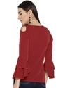 Maroon Bell Sleeve Top