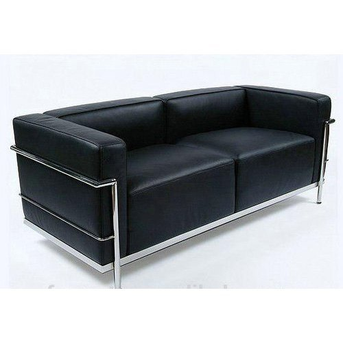 Brilliant Stainless Steel Frame Leatherette Sofa Caraccident5 Cool Chair Designs And Ideas Caraccident5Info