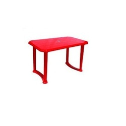 Red Rectangular (Table Top) Plastic Center Table