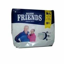Friends Adult Pull Ups Diaper, Size: M-L