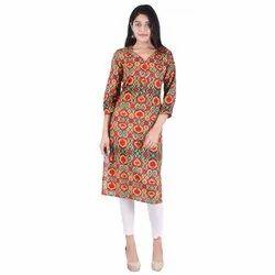 Lavanya Cotton V-Neck Designer Straight Kurti