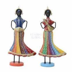 Kiyoshi Metal Dancing Dolls for Interior Decor