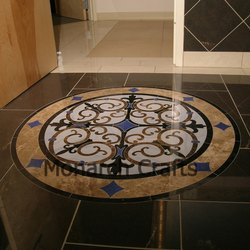 Marble Inlaid Center Flooring