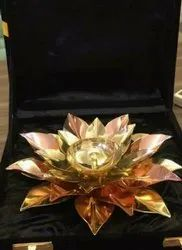 Rawsome Shack Lotus Brass Diya