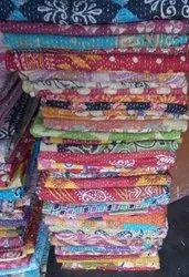 Reversivble Vintage Kantha Quilt