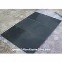Polished Black Limestone Swan Paver