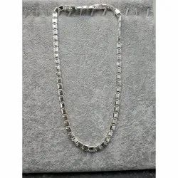 Casual Wear Gents Silver Chain, 10 Grams - 125 Grams