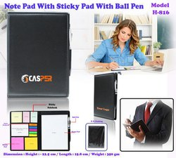 Note Pad With Sticky Pad With Ball Pen H-816
